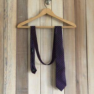 Z Zegna Purple Tiny Squares 100% Silk Tie